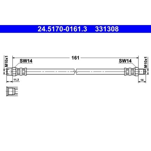 ATE Bremsschlauch 24.5170-0161.3