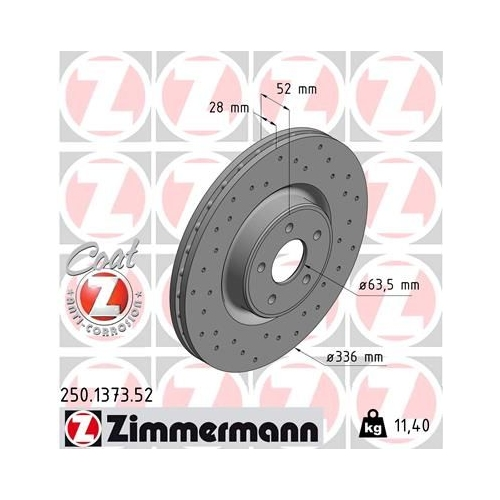 ZIMMERMANN Brake Disc 250.1373.52