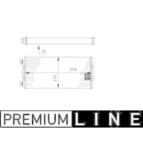 Wärmetauscher, Innenraumheizung MAHLE AH 131 000P BEHR *** PREMIUM LINE ***
