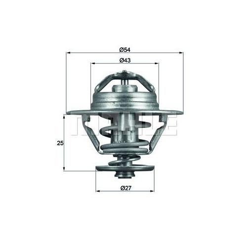 BEHR THERMOT-TRONIK Thermostat, coolant TX 93 83D