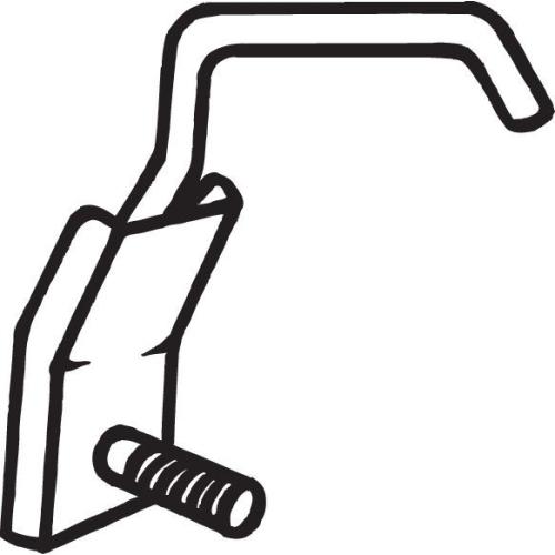 Halter, Abgasanlage BOSAL 251-017 SUZUKI