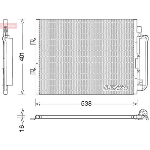 DENSO Kondensator, Klimaanlage DCN23026