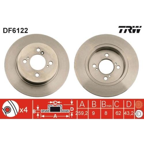 Brake Disc TRW DF6122 SUZUKI
