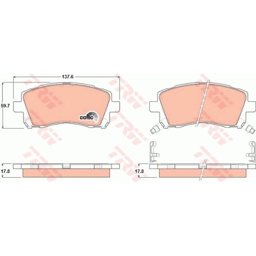 TRW Brake Pad Set, disc brake GDB3217