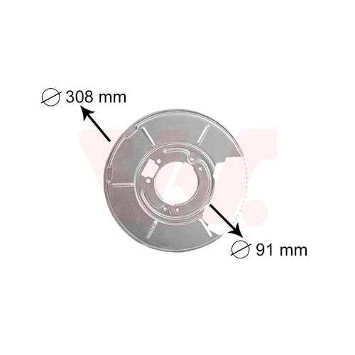 VAN WEZEL Splash Panel, brake disc 0646373