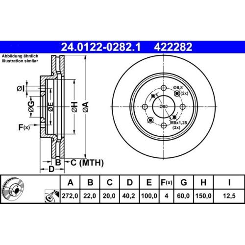 Brake Disc ATE 24.0122-0282.1 SUZUKI