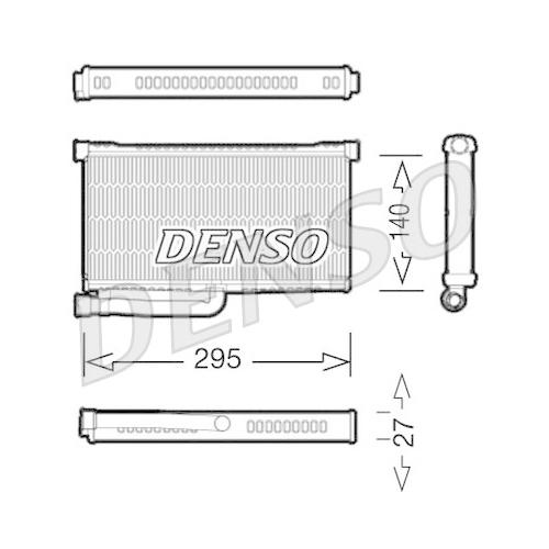 Wärmetauscher, Innenraumheizung DENSO DRR02004 AUDI VW
