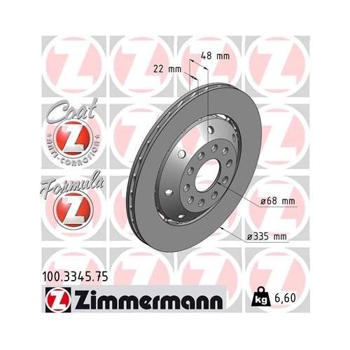 ZIMMERMANN Brake Disc 100.3345.75