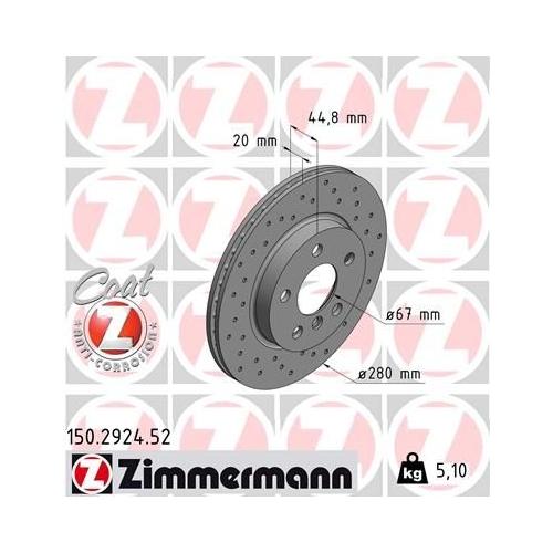 ZIMMERMANN Brake Disc 150.2924.52