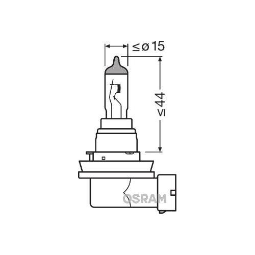 Incandescent lightbulb OSRAM H8 35W / 12V Socket Version: PGJ19-1 (64212NL)