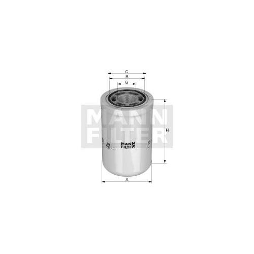 Filter, Arbeitshydraulik MANN-FILTER WH 1257/2 VOLVO MASSEY FERGUSON JOHN DEERE