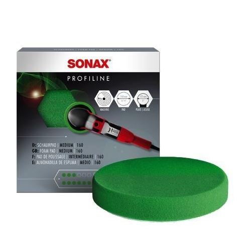 SONAX Aufsatz, Poliermaschine PolierSchwamm grün 160 (medium) StandardPad 04930000