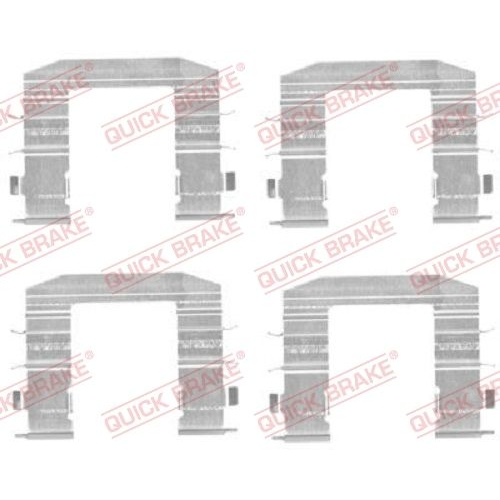 Accessory Kit, disc brake pad QUICK BRAKE 109-1708