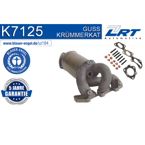 """Krümmerkatalysator LRT K7125 ausgezeichnet mit """"Der Blaue Engel"""" OPEL VAUXHALL"""
