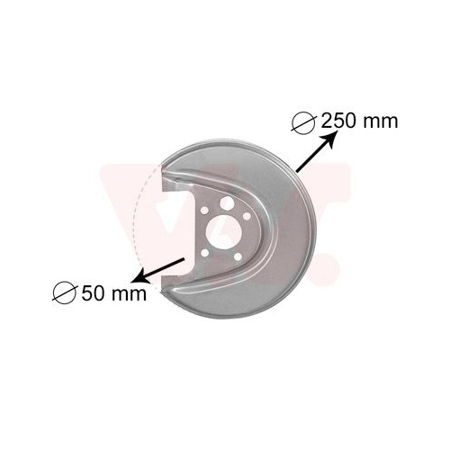 VAN WEZEL Splash Panel, brake disc 5888374