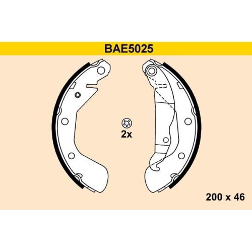 Bremsbackensatz BARUM BAE5025 OPEL VAUXHALL