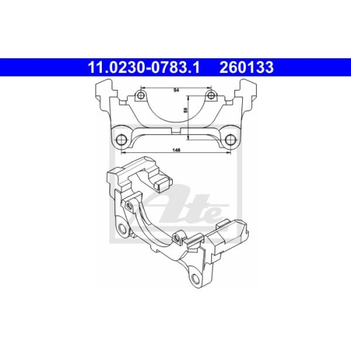 Halter, Bremssattel ATE 11.0230-0783.1 VAG