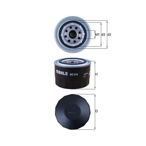 Ölfilter MAHLE OC 570 FIAT IVECO