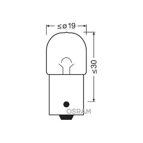 Incandescent lightbulb OSRAM R10W 10W / 24V Socket Version: BA15s (5637TSP)