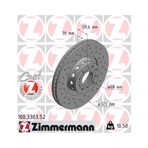 ZIMMERMANN Brake Disc 100.3303.52