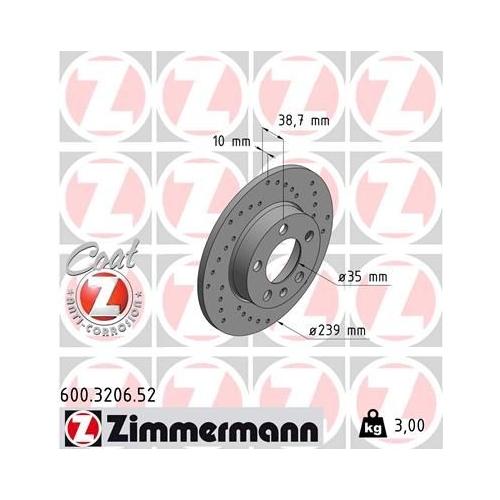 ZIMMERMANN Brake Disc 600.3206.52