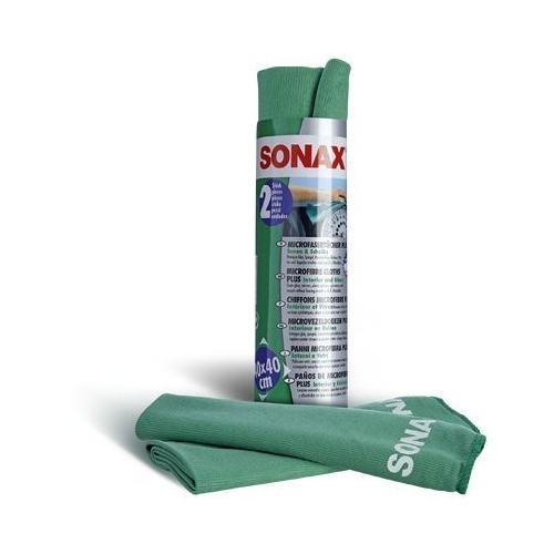SONAX MicrofaserTücher PLUS Innen & Scheibe 2 Stück 04165410