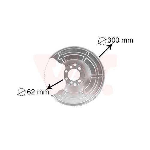 Splash Panel, brake disc VAN WEZEL 3745371 OPEL