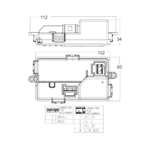 Regulator, passenger compartment fan MAHLE ABR 68 000P BEHR *** PREMIUM LINE ***