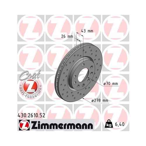 ZIMMERMANN Brake Disc 430.2610.52