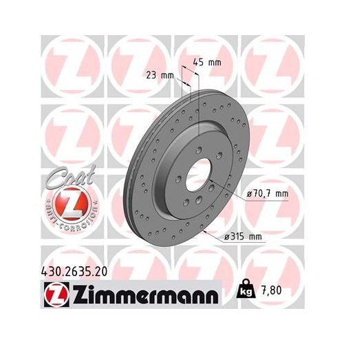 ZIMMERMANN Brake Disc 430.2635.20