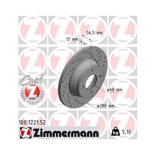 ZIMMERMANN Brake Disc 100.1221.52