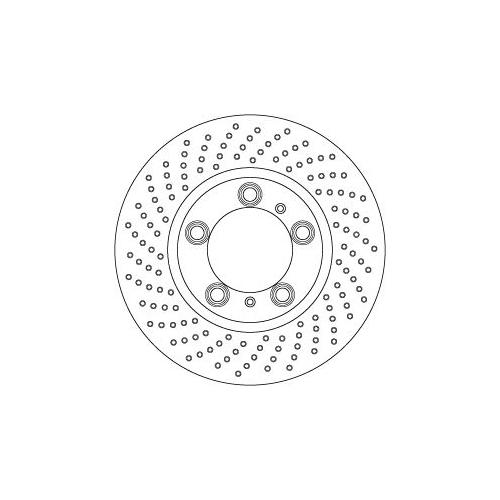 Brake Disc TRW DF6778S PORSCHE