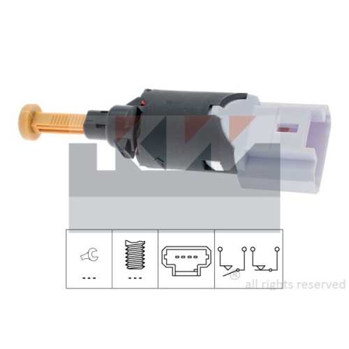 Brake Light Switch KW 510 197 Made in Italy - OE Equivalent CITROËN PEUGEOT