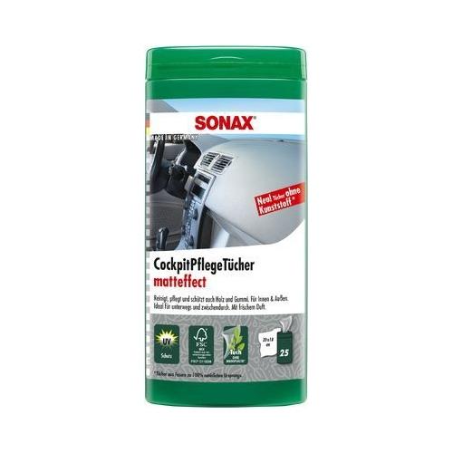 SONAX CockpitPflegeTücher matteffect Box Cockpittuch 25 Stück 04158410