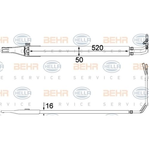Oil Cooler, steering system HELLA 8MO 376 701-611 MERCEDES-BENZ