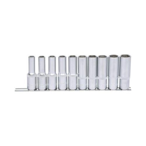 KS TOOLS 1/2 inch CLASSIC Hexagonal socket set, deep, 10 pcs 10-19mm 917.0615