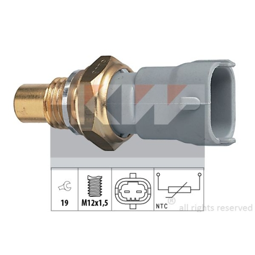 Sensor, coolant temperature KW 530 268 Made in Italy - OE Equivalent