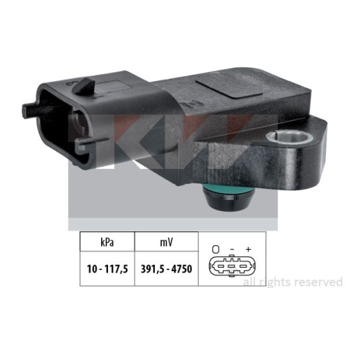 Air Pressure Sensor, height adaptation KW 493 135 Made in Italy - OE Equivalent