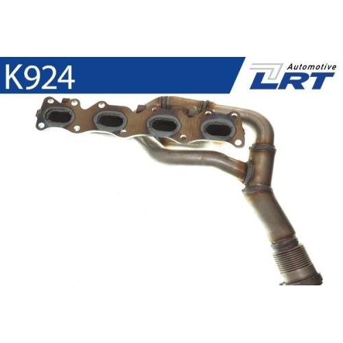 LRT Krümmer, Abgasanlage K924