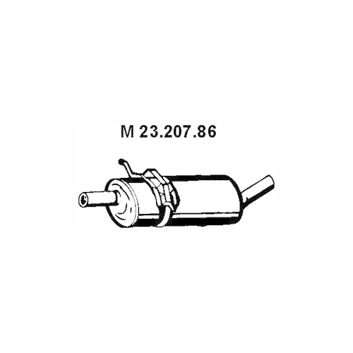 Middle Silencer EBERSPÄCHER 23.207.86 MERCEDES-BENZ