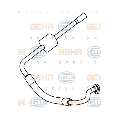 High-/Low Pressure Line, air conditioning HELLA 9GS 351 337-701 CITROËN PEUGEOT