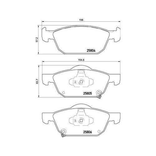 BREMBO Brake Pad Set P 28 076
