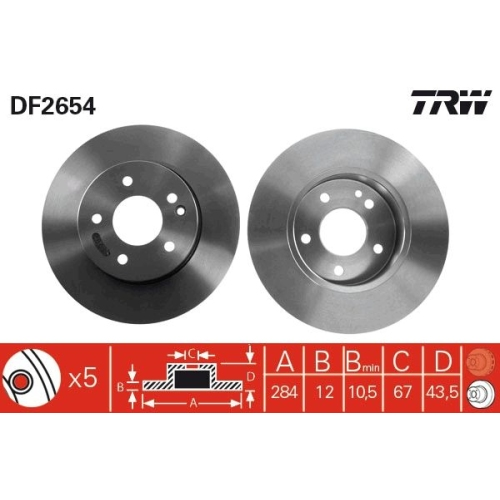 TRW Bremsscheibe DF2654