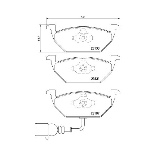 BREMBO Brake Pad Set, disc brake P 85 072