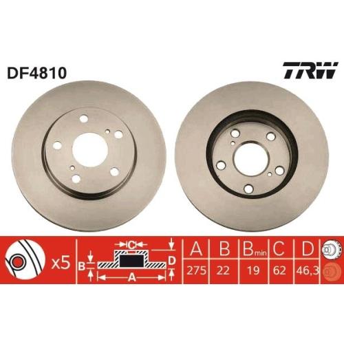 TRW Brake Disc DF4810