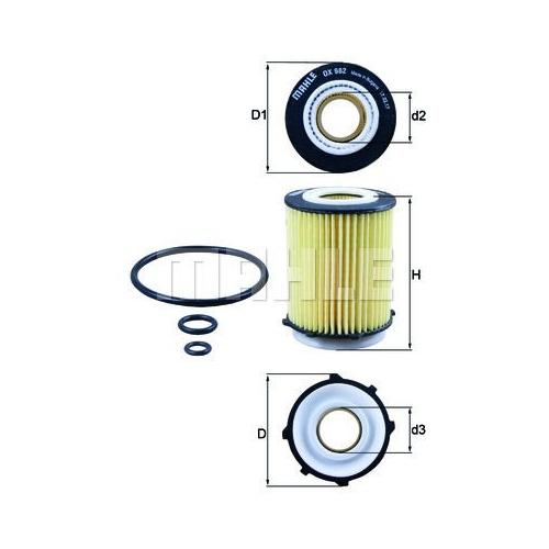 Oil Filter MAHLE OX 982D MERCEDES-BENZ NISSAN INFINITI