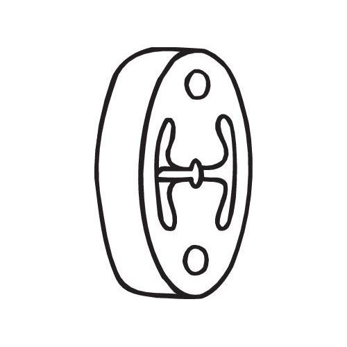 Gummistreifen, Abgasanlage BOSAL 255-134 NISSAN
