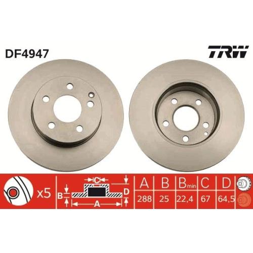 TRW Bremsscheibe DF4947