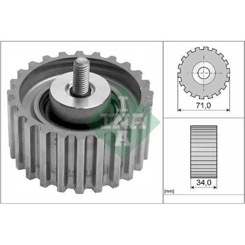 Deflection/Guide Pulley, timing belt INA 532 0441 10 FIAT IVECO
