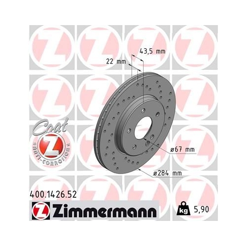ZIMMERMANN Brake Disc 400.1426.52